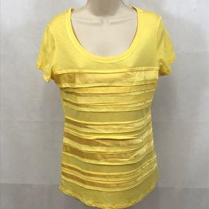 Cato yellow t-shirt NWT